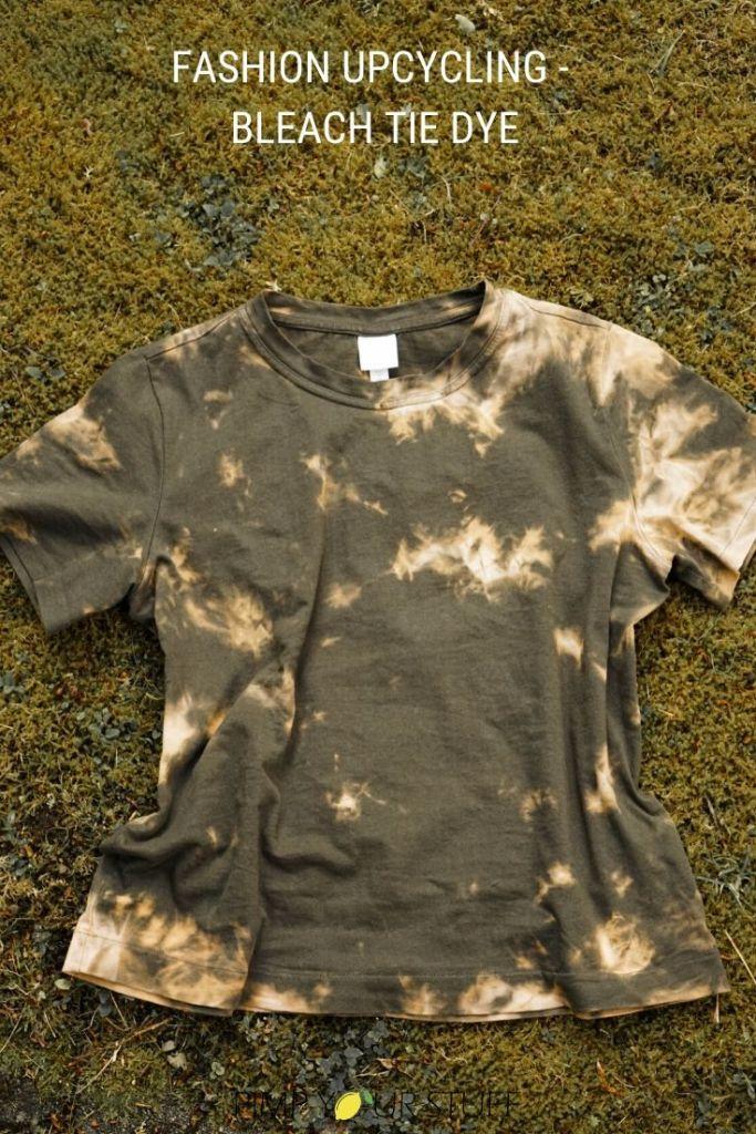 Bleach Tie Dye - mit Bleiche färben