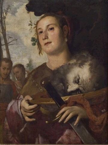 Bernardo Strozzi (?), Judith with the head of Holofernes
