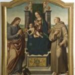 Biagio d'Antonio, Madonna col Bambino, due Angeli e i SS.Giovanni Evangelista e Antonio da Padova