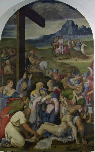 Giacomo Bertucci aka Jacopone da Faenza, Christ's deposition from the cross