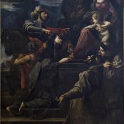 Alessandro Tiarini, Madonna col Bambino e i SS. Martino, Chiara, Francesco, Antonio da Padova
