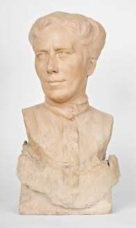 Domenico Baccarini, Busto della madre (Maddalena Bassi) terracotta, [1901]