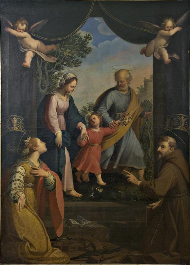 Benedetto Marini, Ritorno dalla Fuga in Egitto con i SS. Caterina d'Alessandria e Francesco