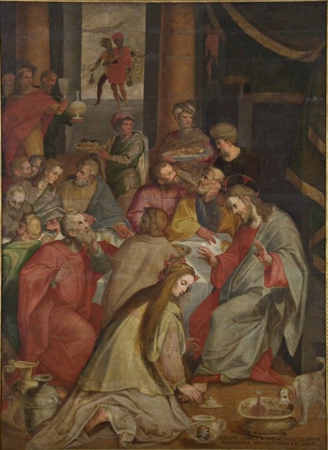 Christ at the home of the Pharisee