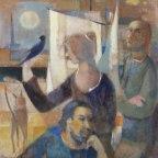"""Paolo Cavinato, Figure, [1970-1980], Olio su tela, 70x80 Firmato in alto a destra """"P CAVINATO"""""""