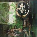 """Giuseppe De Gregorio, Natura morta del pescatore e Natura morta con foglie,s.d. e 1973,Olio su tela, 50x60 e 60x80,Firmati in basso a sinistra """"DE GREGORIO"""""""