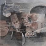 Giuseppe De Gregorio, Natura morta del pescatore e Natura morta con foglie, s.d. e 1973, Olio su tela, 50x60 e 60x80, Firmati in basso a sinistra