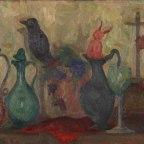 Mario Mafai, Natura morta con caraffe e diavoletto, 1941