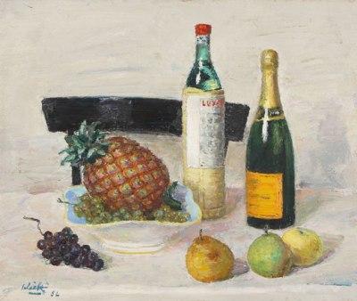 Alberto Salietti, Natura morta con l'ananas