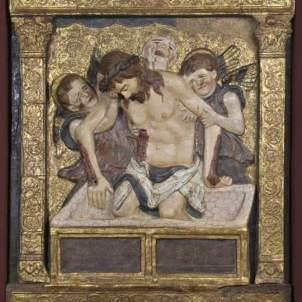 Bartolomeo Bellano, attr. (Padova, 1437 ca. - 1497 ca.), Cristo in Pietà e angeli