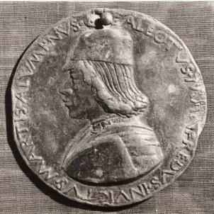 Sperandio Savelli (Mantova, 1425 ca. – Venezia, 1504 ca.) Medaglia con effigie e insegne di Galeotto Manfredi