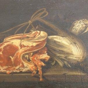 Felice Boselli, bottega di (Piacenza, 1650 - Parma, 1732), Natura morta con costata di manzo, cardo e selvaggina
