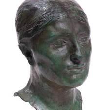 Auguste Rodin (Parigi, 1840 - Meudon, 1917), La signora Russell