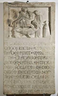 Anonimo gotico Sec. XIV, San Giorgio e il drago con la principessa e il committente