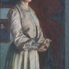 Domenico Baccarini (Faenza, 1882 - 1907), Ritratto della sorella Giovanna (L'attesa)