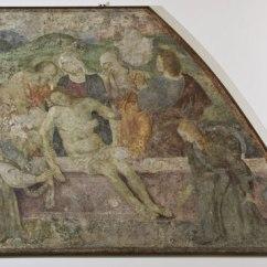 Giovanni Battista Bertucci sr., Deposizione di Cristo nel Sepolcro affresco staccato, cm. 122x164; n. inv. 89 Cristo cade sotto la croce affresco staccato, cm. 122x164, n. inv. 88