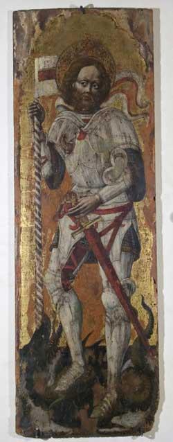 Anonimo tardogotico Sec. XV, San Giorgio, San Francesco e San Rocco
