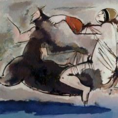 GIANNA BOSCHI (1913 -1986), Centauro con Baccante