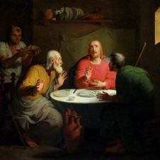Tommaso Minardi (Faenza, 1787 - Roma, 1871), La Cena in Emmaus