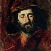 DOMENICO MORELLI (1826-1901) Autoritratto Olio su tela, cm 50,5 x 40,5 Inv. n. 1540 Provenienza: donazione Golfieri, 1989