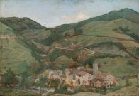 ANTONIO PUCCINELLI (1822-1897) Villa Petrocchi Olio su tavola, cm 35 x 50 Inv. n. 1433 Provenienza: donazione Zauli Naldi, 1965, n. 25