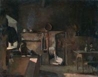 GIUSEPPE ABBATI (1836-1868) Interno rustico Olio su tela, cm 40 x 50 Inv. n. 813 Provenienza: donazione Zauli Naldi, 1965, n. 23