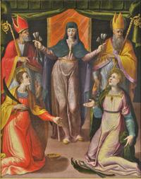 Madonna delle Grazie e quattro santi