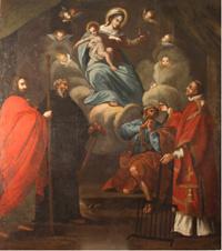 Madonna delle Grazie con il bambino e i santi Giacomo il Maggiore, Antonio Abate, Pietro e Lorenzo