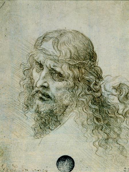 Studio per la testa di Cristo, Leonardo da Vinci