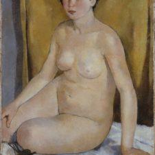 Franco Gentilini (Faenza, 1909 - Roma, 1981), Nudo femminile accosciato
