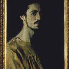 Domenico Baccarini (Faenza, 1882 - 1907), Autoritratto in rosa