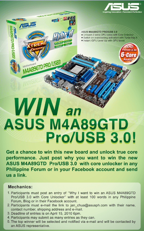 Win an ASUS M4A89GTD Pro/USB 3.0