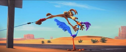 """LTCF-0003 The Road Runner is always just a little out of reach for Wile E. Coyote in """"Coyote Falls,"""" an all-new 3-D animated short produced by Warner Bros. Animation which will accompany the Warner Bros. theatrical release of """"Cats & Dogs: The Revenge of Kitty Galore.""""  """"Coyote Falls"""" © 2010 Warner Bros. Entertainment, Inc.   """"Road Runner & Coyote"""" and all related characters and elements are trademarks of and copyrighted by Warner Bros. Entertainment, Inc. PHOTOGRAPHS TO BE USED SOLELY FOR ADVERTISING, PROMOTION, PUBLICITY OR REVIEWS OF THIS SPECIFIC MOTION PICTURE AND TO REMAIN THE PROPERTY OF THE STUDIO. NOT FOR SALE OR REDISTRIBUTION."""