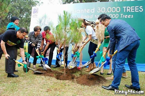 SM City Baguio Ceremonial Planting of the 30,000th tree