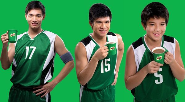 Chris Tiu, Kiefer Ravena, and  Prince Carlos