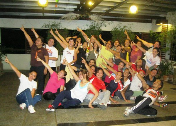with my Zumba Classmates and trainer