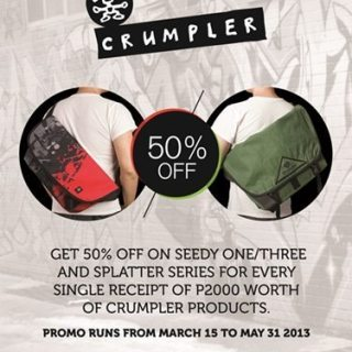 Crumpler Seedy-Splatter Sale from March 15 to May 31, 2013