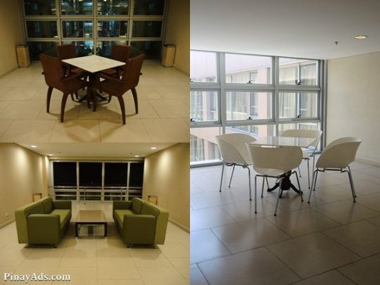 There are lounge areas in every floor