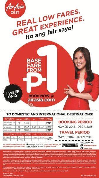 AirAsia Zest Low Fares