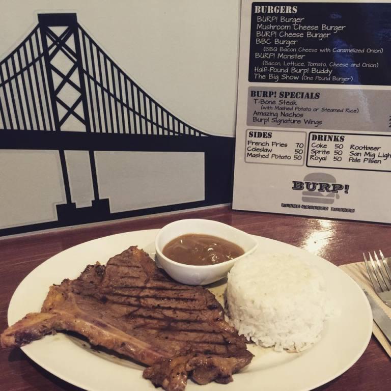 BURP T-bone steak