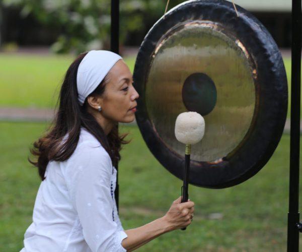 Kundalini Yoga teacher and sound healer Rosan Cruz