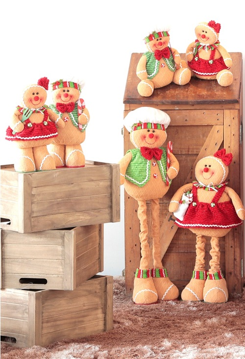 The traditional Gingerbread man gets a new look in plushie form