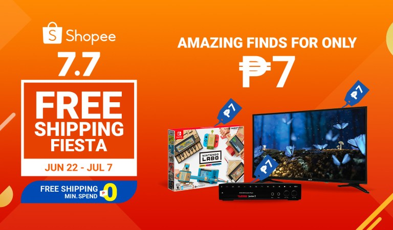 Seven Exciting Promotions to Look Forward to at Shopee's 7.7 Free Shipping Fiesta