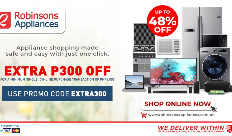 Extra Discount for Extra Safe and Easy Appliance Shopping