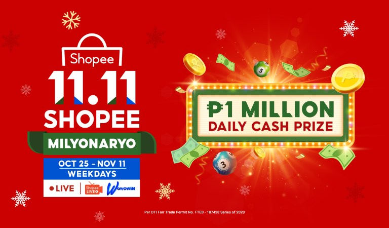 Shopee Is Giving Away ₱1 Million Daily with Shopee Milyonaryo
