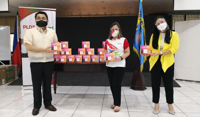 PLDT turns over Home WiFi Prepaid units to DepEd for teachers' online classes