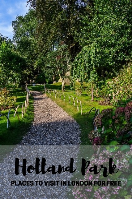 Places to visit in London for free: Holland Park, PinayFlyingHigh.com