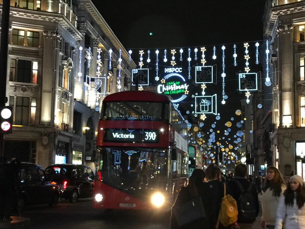 Christmas in oxford street 2017
