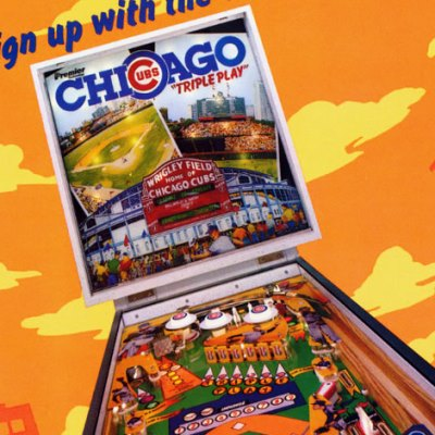 PinballPrice com   Gottlieb Chicago Cubs  Triple Play  pinball machine gottlieb  chicago cubs triple play  pinball  sales  price  date  city