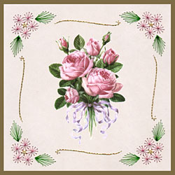 flower corners with clipart